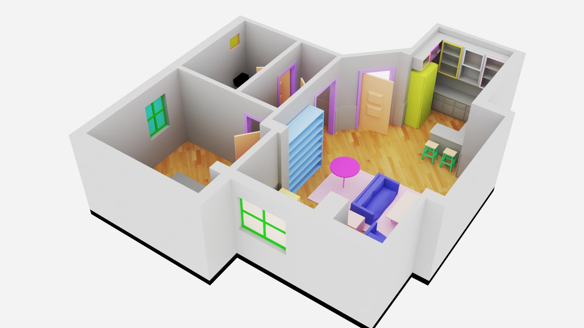 3D Kat Planı
